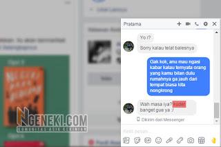 Chat di FB dengan Bahasa Kekinian