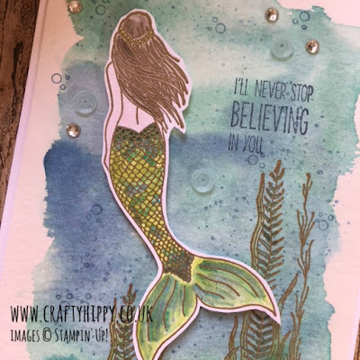 Learn how to create a magical Mermaid card using the Magical Mermaid Stamp Set by Stampin' Up!