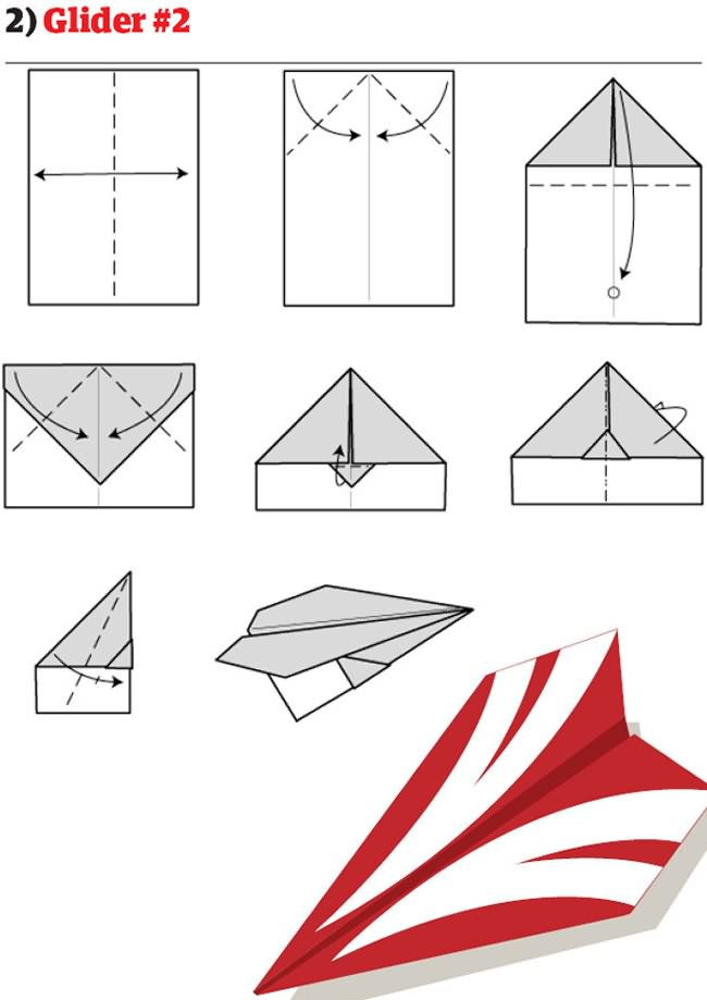 Cara Membuat Kapal Terbang Kertas