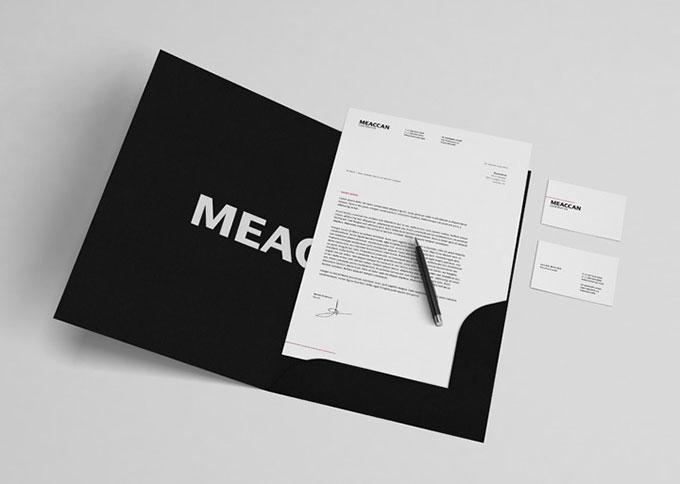 Black & White Stationery Mockup