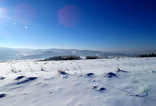 Widok na zachodni fragment Gorców.
