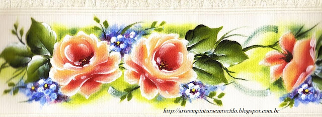pintura em tecido flores toalha de banho pintada