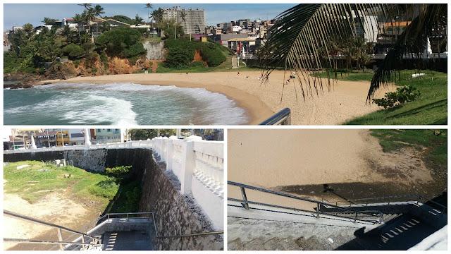 Segunda escadaria de acesso à Praia da Paciência ficou pronta, mas virou sanitário público. Isso é uma vergonha!