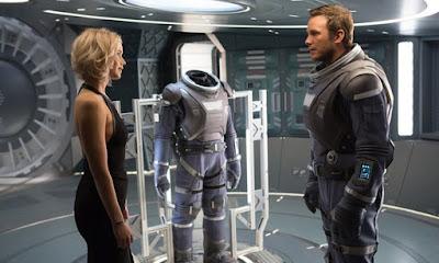 Jennifer Lawrence (Aurora Lane) y Chris Pratt (Jim Preston)