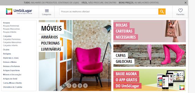 Site Um Só Lugar - lojas brasileiras