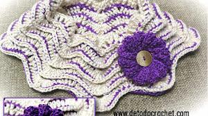 Aprende a Tejer Cuello Crochet Zig Zag