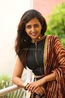 Lasya looks super cute in black choli Saree at Raja Meru Keka Press Meet ~  Exclusive 071.JPG