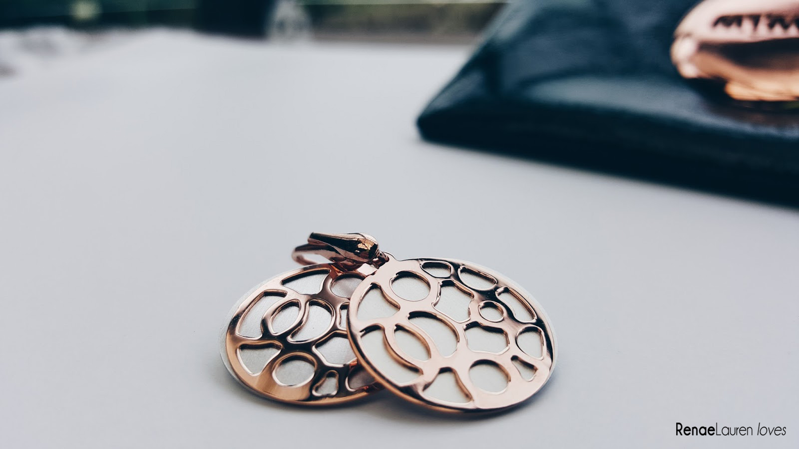 Tesoro Rose gold earrings