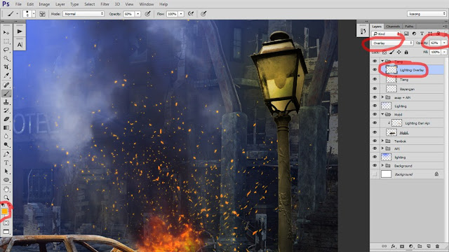 33 Tutorial Photoshop Dramatic Manipulation WAR part 2