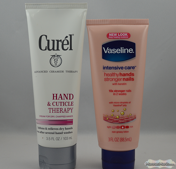 hand care featuring curel and vaseline