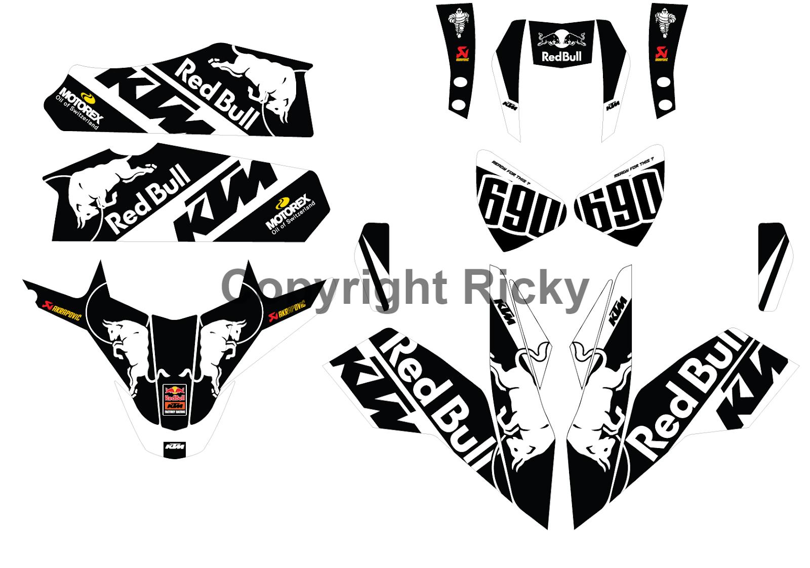 Ktm Duke Custom Decals New Custom Design Graphics Ktm