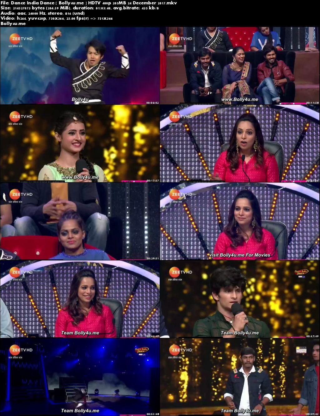 Dance India Dance HDTV 480p 200MB 24 Dec 2017 Download
