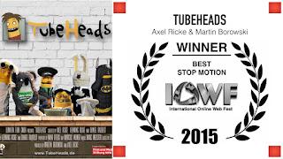 """Beim International Online Webfest wurde die Puppenserie TubeHeads verwirrender Weise als """"Beste animierte Webserie"""" ausgezeichnet"""
