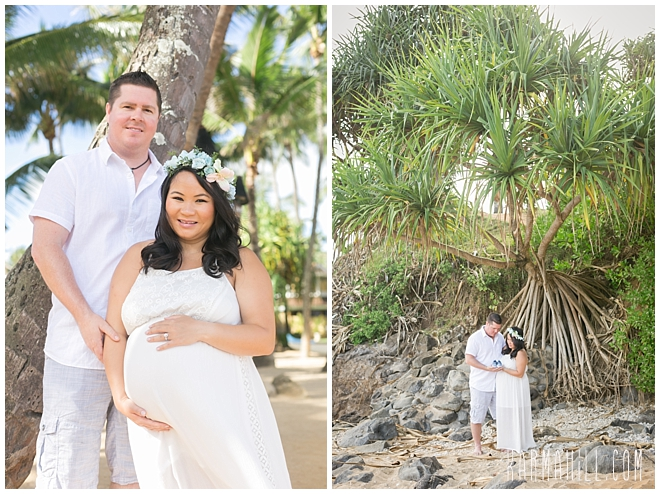 Maui Beach Maternity Portrait Photographer