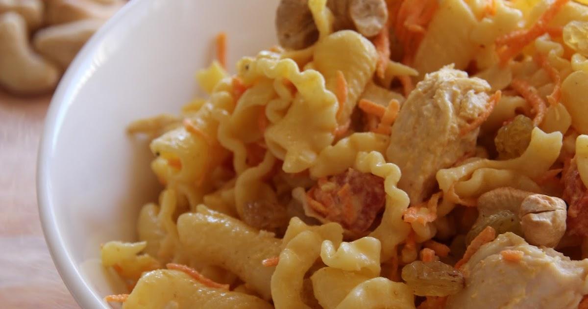 philo aux fourneaux salade de p 226 tes au poulet au curry
