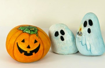 Ideas para pintar piedras de halloween mimundomanual for Pintar pared de piedra