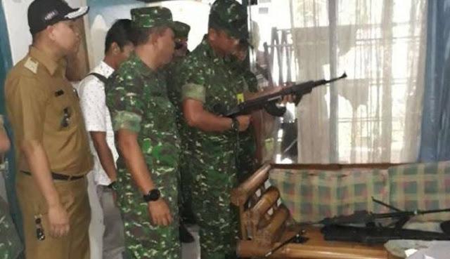 TNI - Polri Sita 9 Senjata dan Alquran dari Terduga Teroris