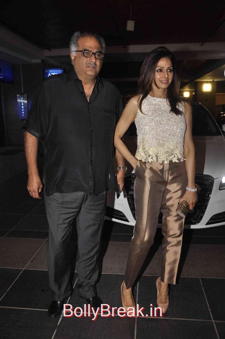 Sridevi and Boney Kapoor, Sridevi in Golden Pants at Amar Singh Party