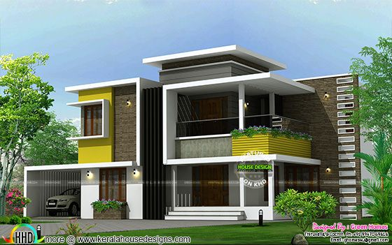 305 square yards box type contemporary home