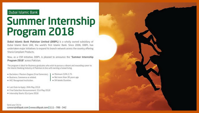 Dubai Islamic Bank Summer Internship Program 2018