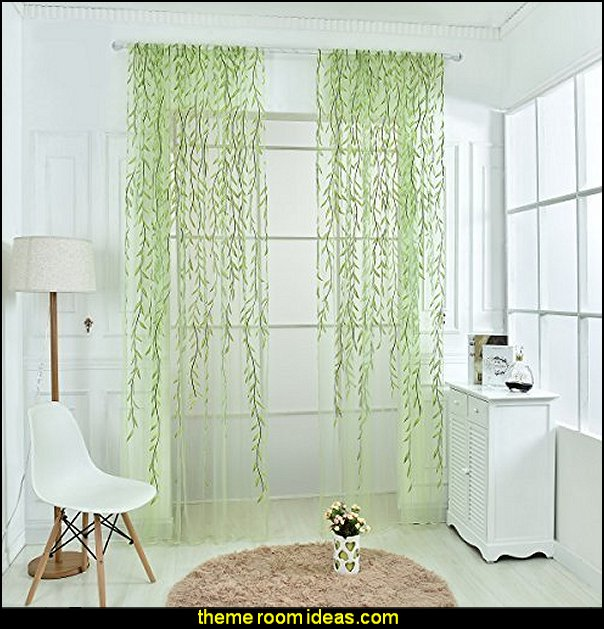 Willow Voile Tulle Room sheer Curtain