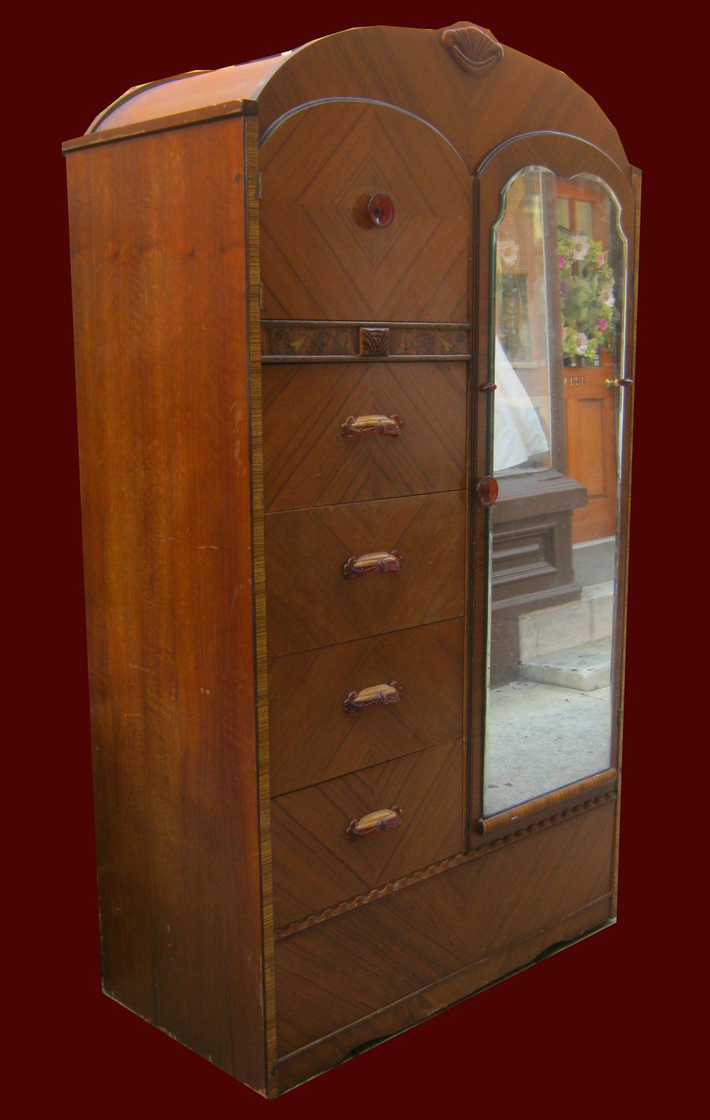 Uhuru Furniture & Collectibles: 1930s Waterfall Bedroom