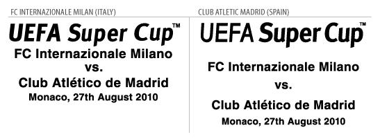 UEFA Detail: Football Teams Shirt And Kits Fan: Match Details Final