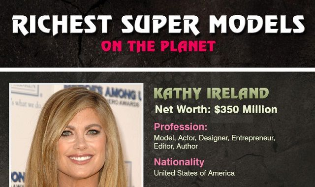 Image: Richest Super Models On The Planet #infographic