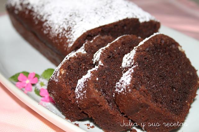 Bizcocho de chocolate sin gluten. Julia y sus recetas
