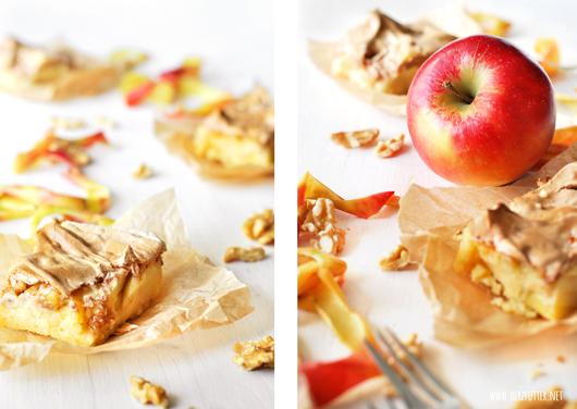 Apfelkuchen mit Zimtbaiser
