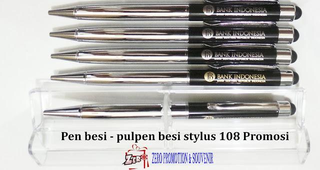 pen besi / pulpen besi 108 BB STYLUS, Souvenir Pulpen 108 Metal Stylus