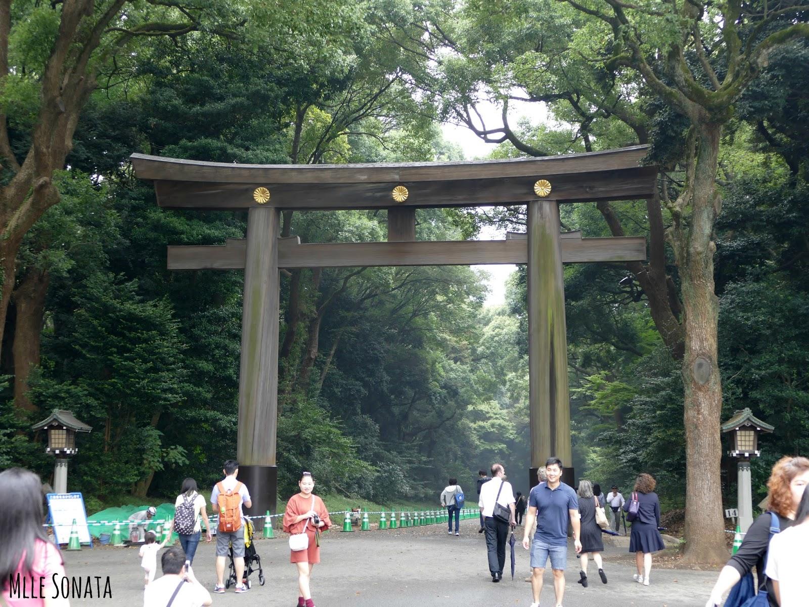 Entrée du parc Yoyogi-kōen, direction le temple Meiji Jingu.