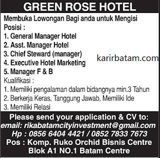 Lowongan Kerja Green Rose Hotel