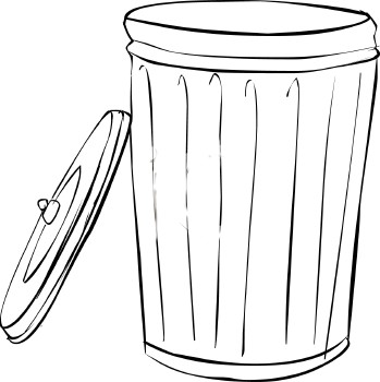 trash can coloring pages - photo#8