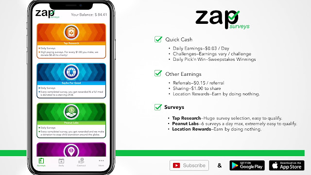 Earn Money Zap Survey
