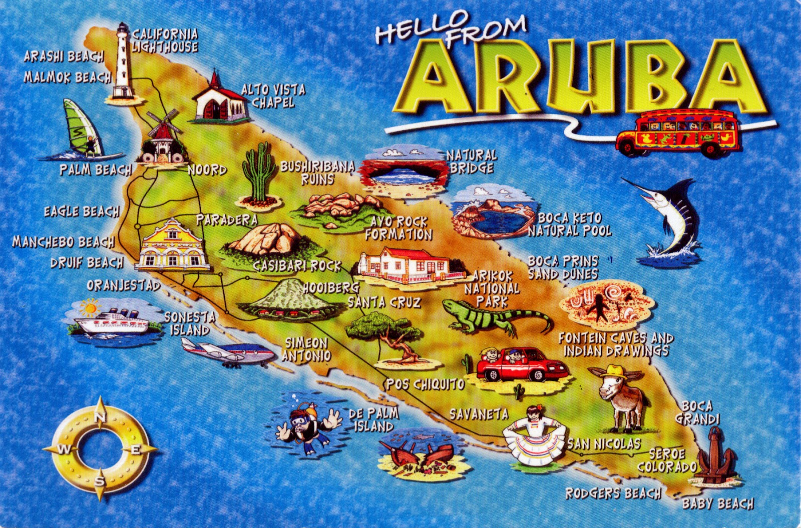 WORLD COME TO MY HOME NETHERLANDS Aruba - Caribbean map aruba