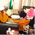 New Photo Of President Buhari Chilling With His Daughter Emerges