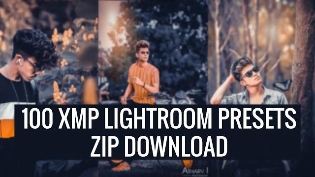 100 Lightroom presets xmp zip file download 2020