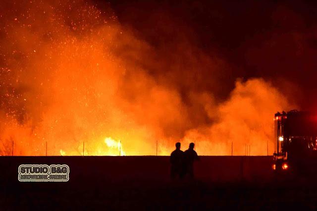 Πυρκαγιά το βράδυ του Σαββάτου στη Δήμαινα Αργολίδας