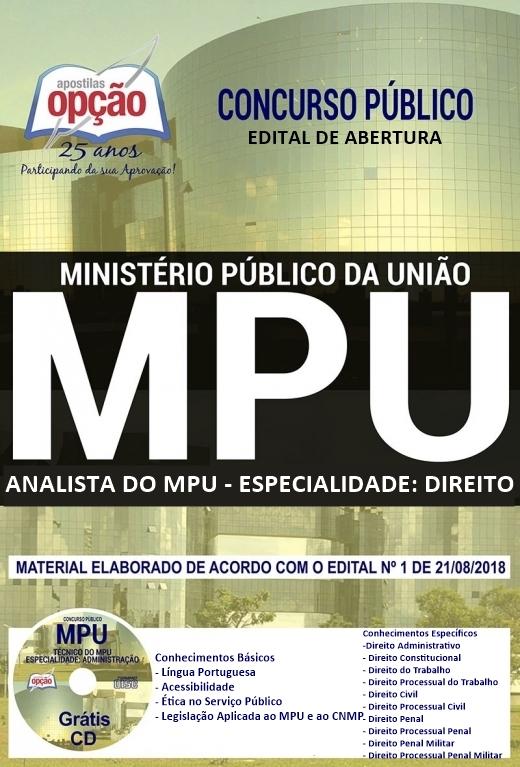 Apostila analista do MPU Direito + Curso online + PDF