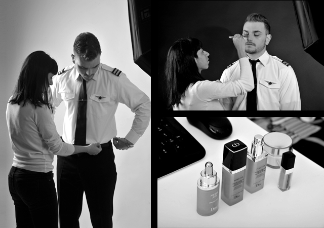 GEORGE DIMOPOULOS PHOTOGRAPHY Professional Pilot Studio Photoshoot BACKSTAGE
