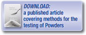 Download a published article covering methods for the testing of powders