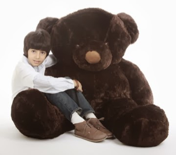 65in Munchkin Chubs is a plump dark brown adorable life size bear