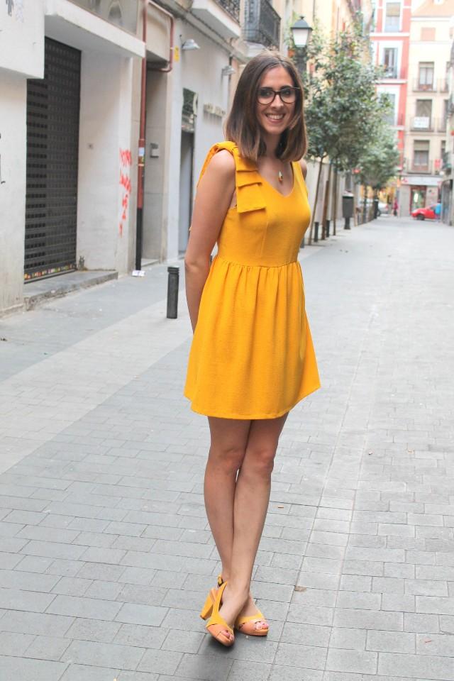 Vestido Amarillo y Premios Bazar me lo pido
