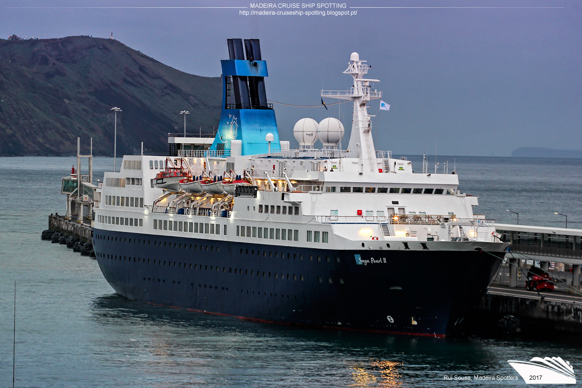 Madeira Cruise Ship Spotting Saga Pearl II