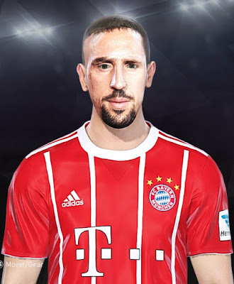 PES 2018 Ribery Face by Facemaker JuuanKaa1990