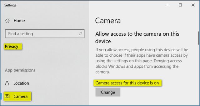 كيفية إصلاح مشكلة كاميرا الويب لا تعمل في ويندوز Windows 10