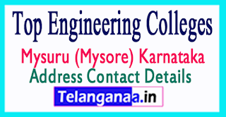 Top Engineering Colleges in Mysuru (Mysore) Karnataka