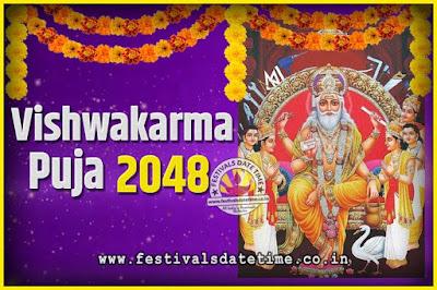 2048 Vishwakarma Puja Date and Time, 2048 Vishwakarma Puja Calendar
