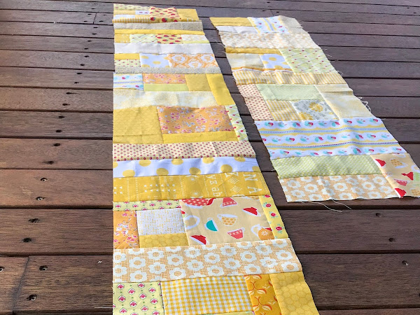 QUILTING: Scrappy Happy Rainbow Quilt - Yellow